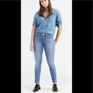 Levis 311 Sliming Skinny Light Wash Jeans